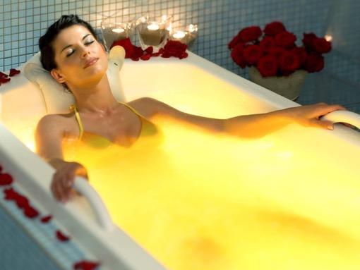 скипидарная ванна - желтая эмульсия
