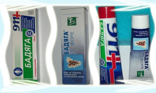 Косметические средства с бадягой - гель и крема