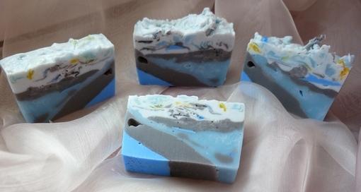 мыло с голубой глиной