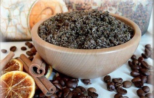 Скраб с кофе и молотой корицей