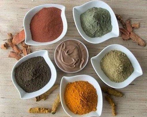 разные виды косметической глины