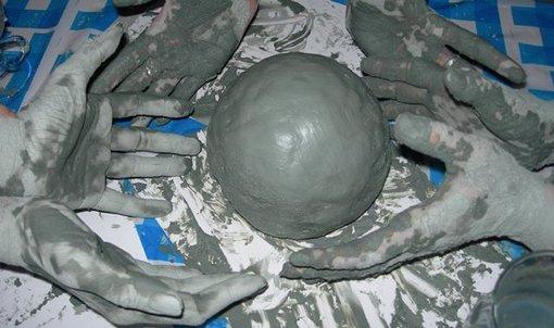 шарики из глины