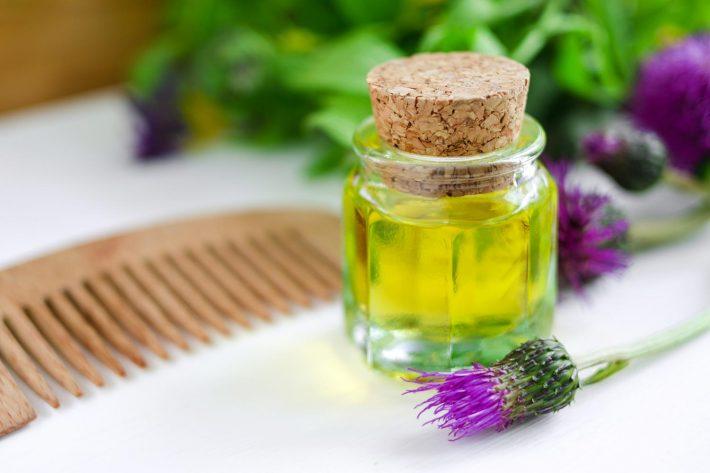 Репейное масло для сухих волос