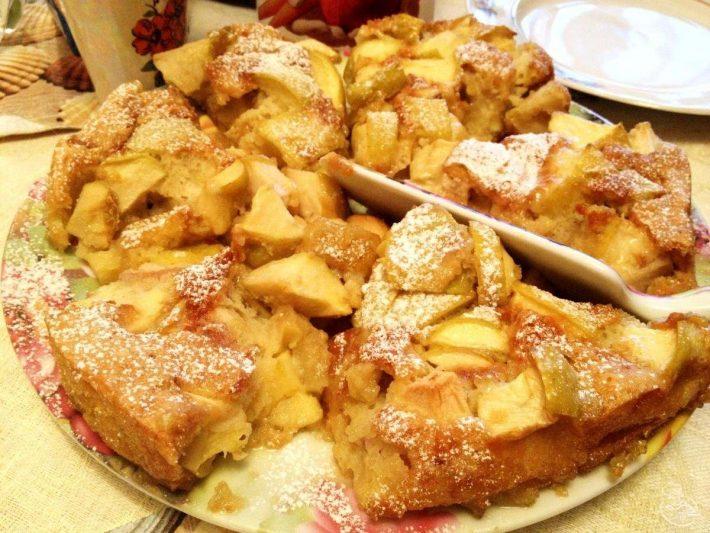 шарлотка с яблоками2