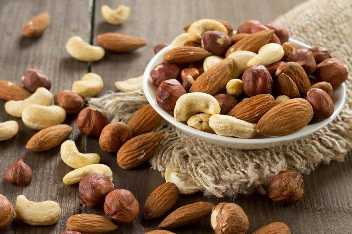 Орехи свойства таблица