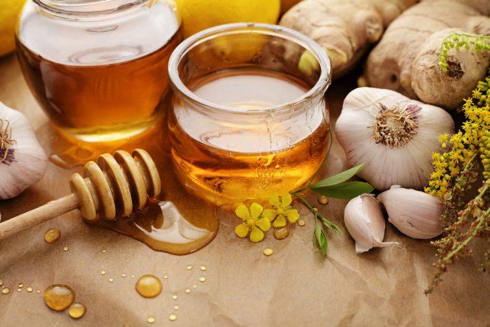 яблочный уксус, мед и чеснок
