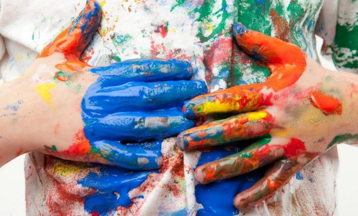 как отстирать масляную краску с одежды