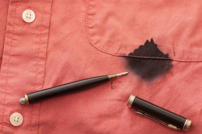 как отстирать чернила от шариковой ручки