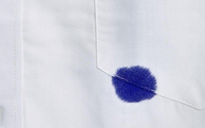 Как отстирать чернила от шариковой ручки с одежды в домашних условиях