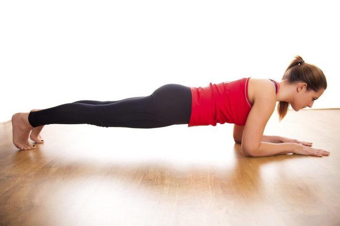 планка для похудения живота